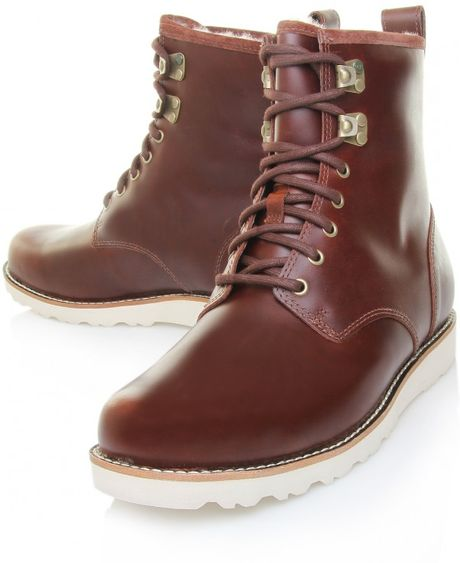 5c245fbe1c0 Ugg Australia Hannen Cordovan Brown Leather Mens Boots 3240 - cheap ...