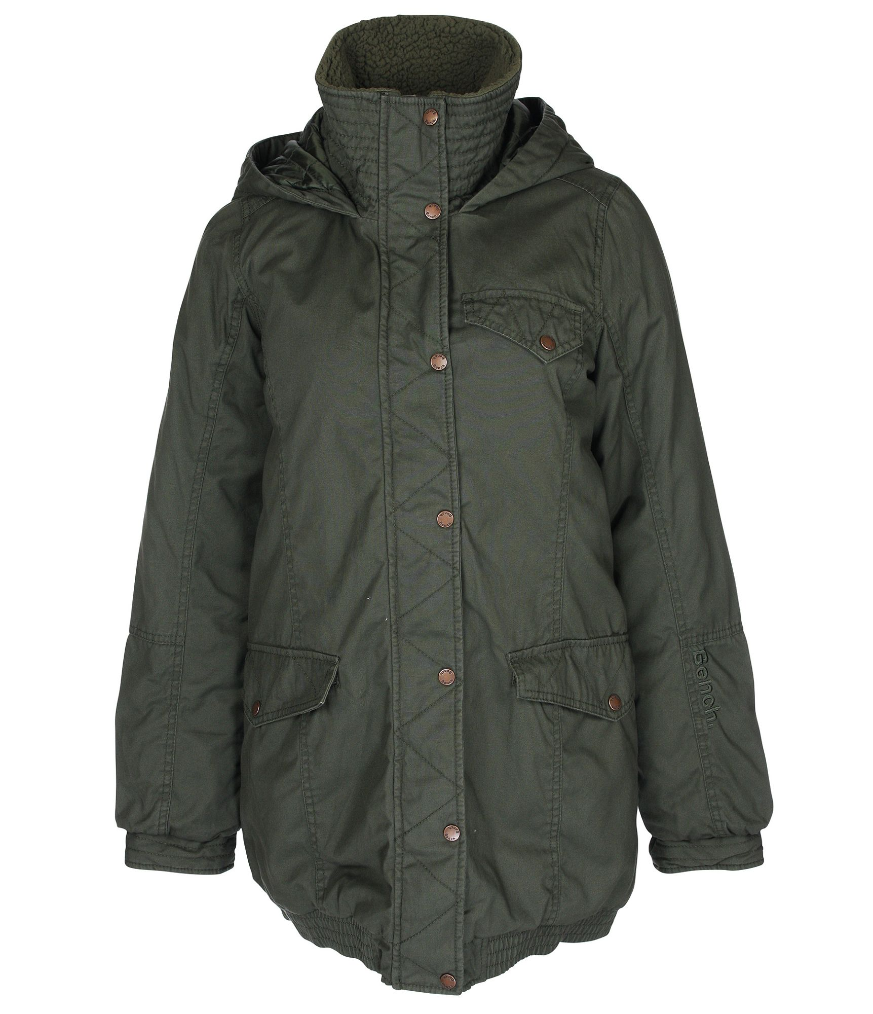 Bench womens pea pod heavy jacket in gray black diamond Bench jacket