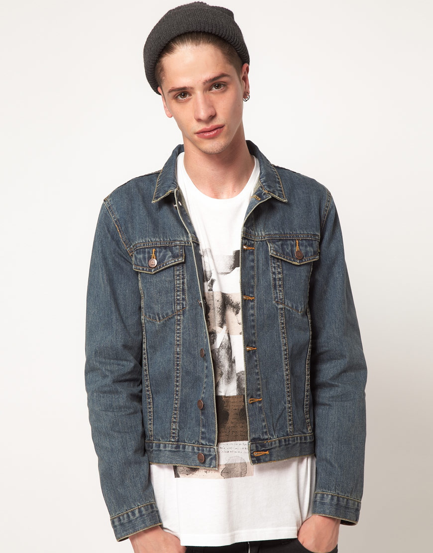 Cheap monday Tobias Denim Jacket in Blue for Men | Lyst