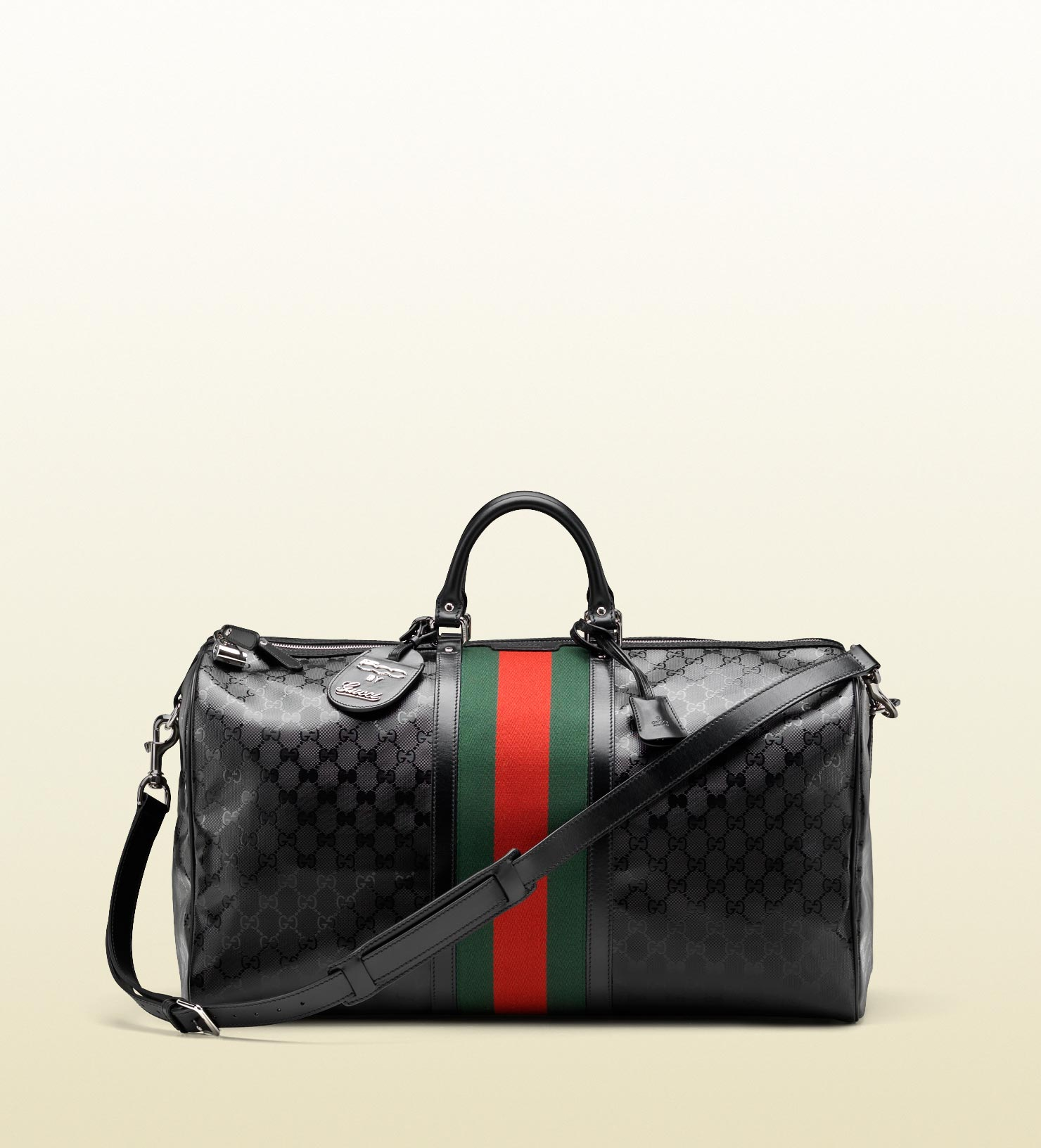 0a0dffa5259 Lyst - Gucci Carry-on Duffle With Signature Web Detail in Black for Men