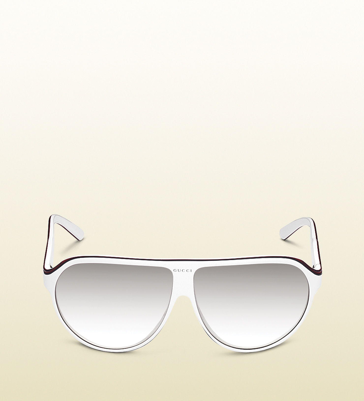 032546e0a3a Lyst - Gucci Large Aviator Frame Sunglasses with Gucci Trademark ...