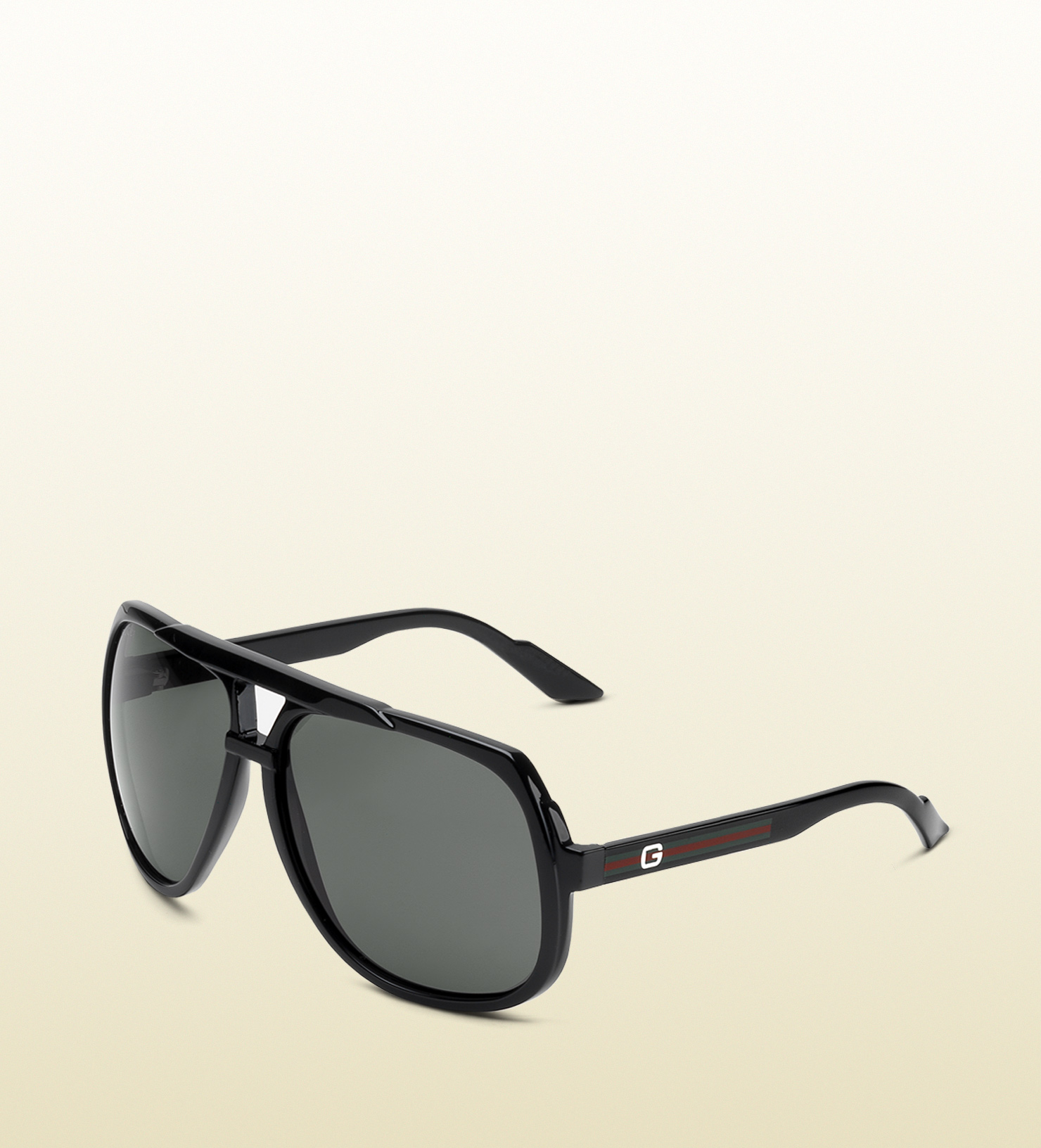 760cc26a7c2 Lyst - Gucci Large Aviator Sunglasses With G Detail And Signature ...