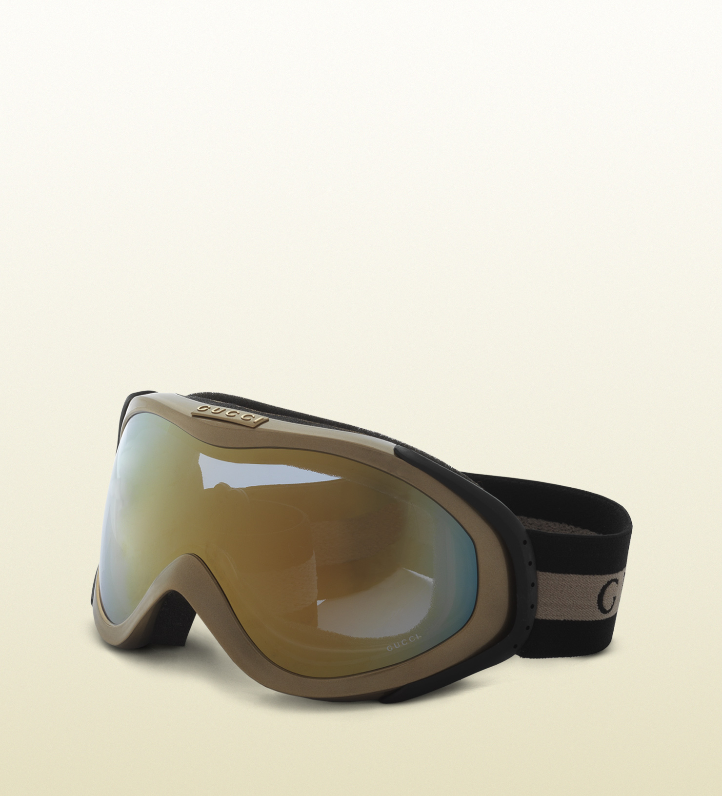 03c3762dfc37 Gucci Ski Goggles With Logo And Signature Web Detail in Metallic for ...