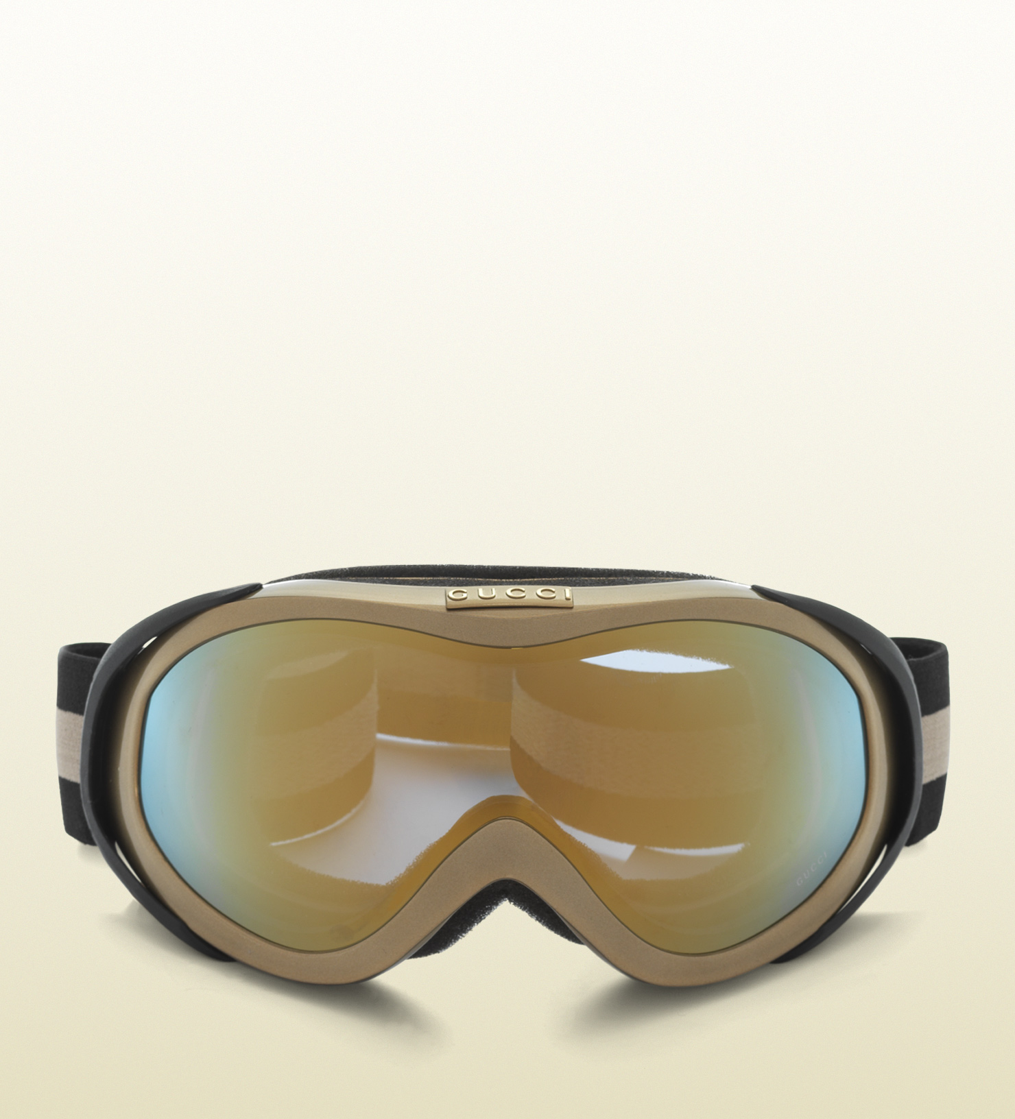 6123425134b Gucci Ski Goggles With Logo And Signature Web Detail in Metallic for Men -  Lyst