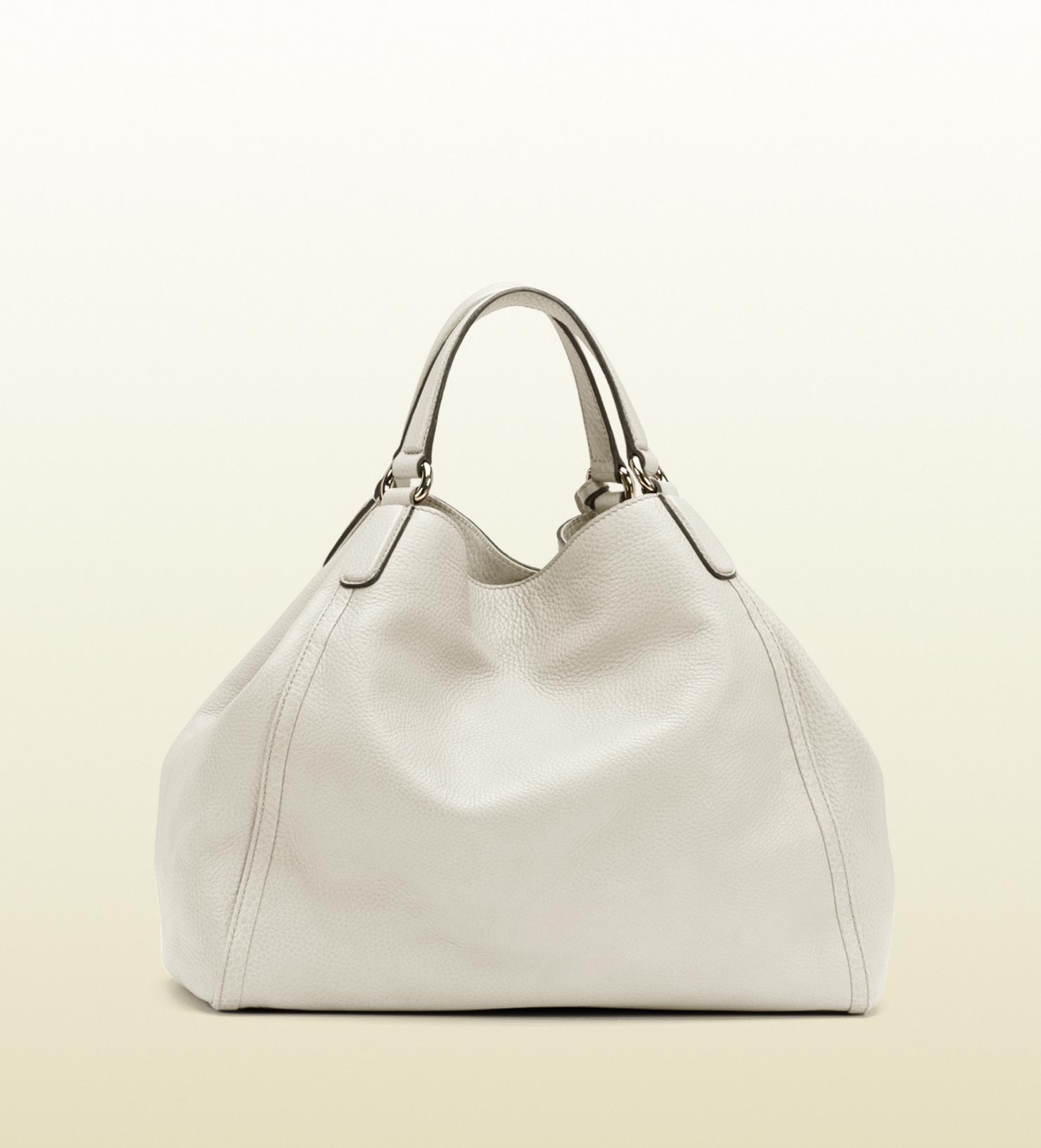 68406a0e9d46 Lyst - Gucci Soho Leather Shoulder Bag in White