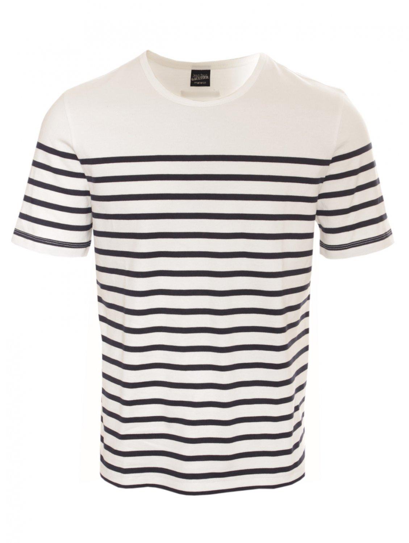 Ss Stripe in Lyst Tshirt White Gaultier Paul Men for Jean wEfqtt