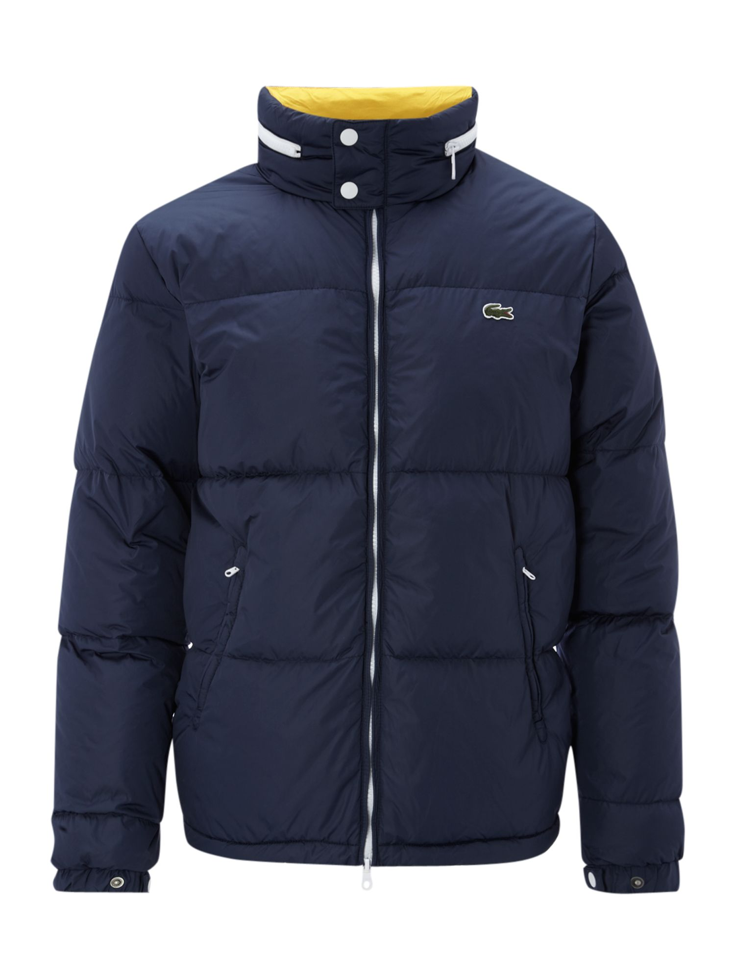 lacoste live puffa jacket in blue for men navy lyst. Black Bedroom Furniture Sets. Home Design Ideas