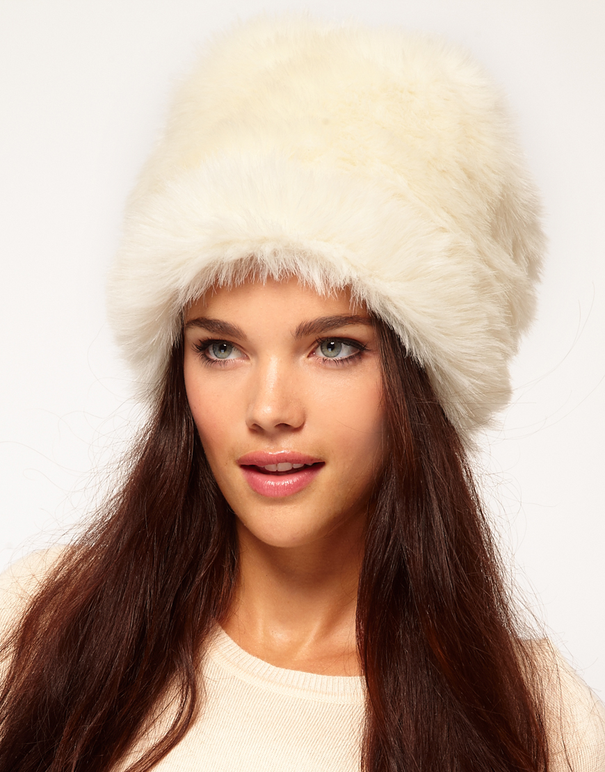 Lyst - River Island Fur Cossack Hat in Natural 9546995fb8d