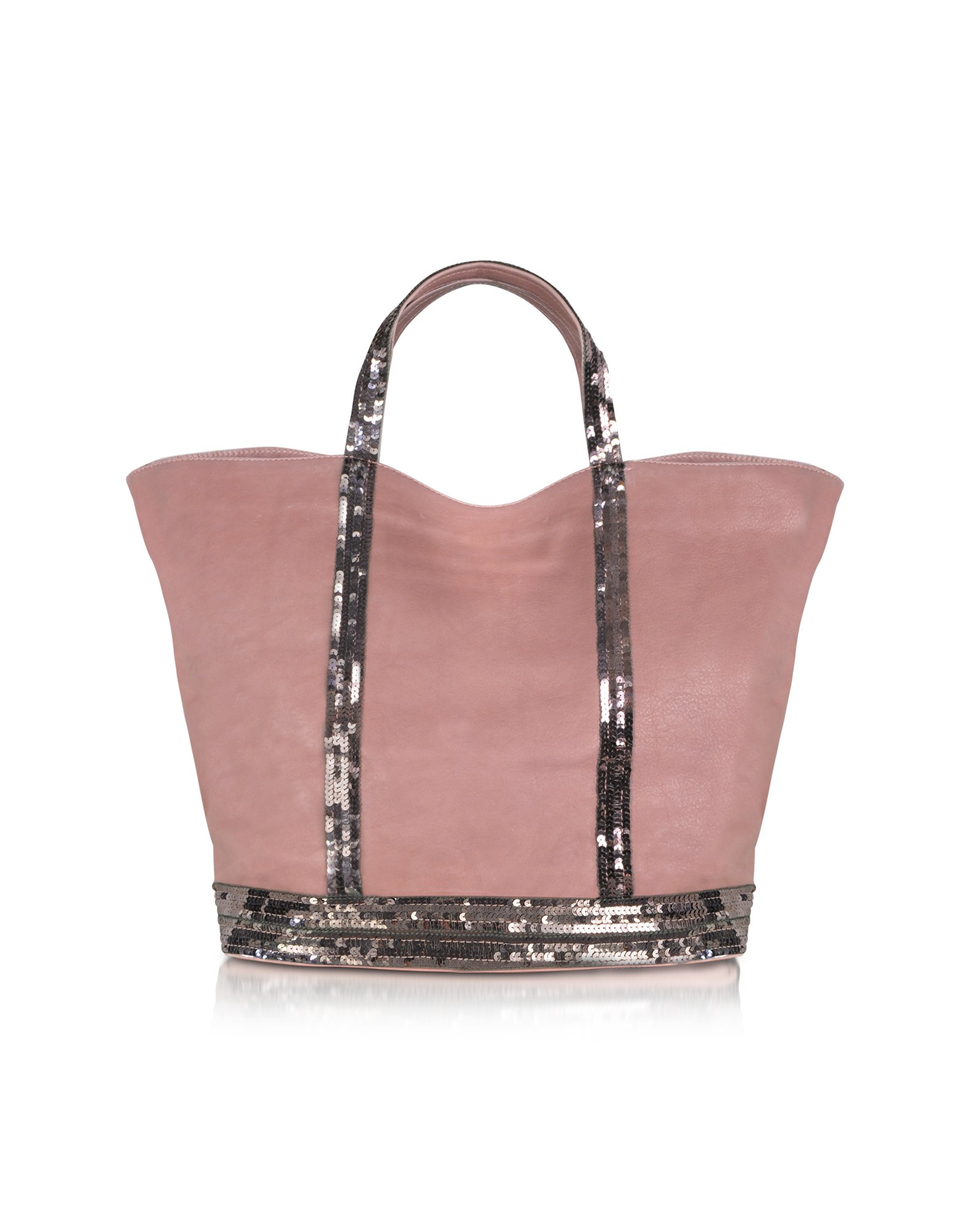 vanessa bruno le cabas large sequined leather tote in pink lyst. Black Bedroom Furniture Sets. Home Design Ideas