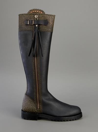 Lyst Penelope Chilvers Long Tassel Boot In Black