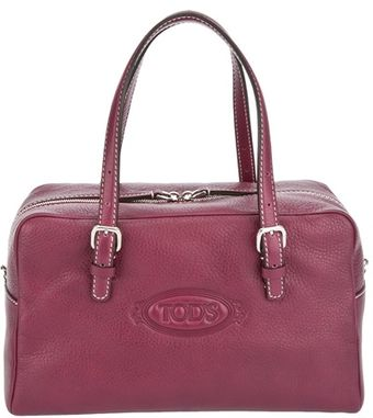 Tod's Square Leather Tote Bag - Lyst