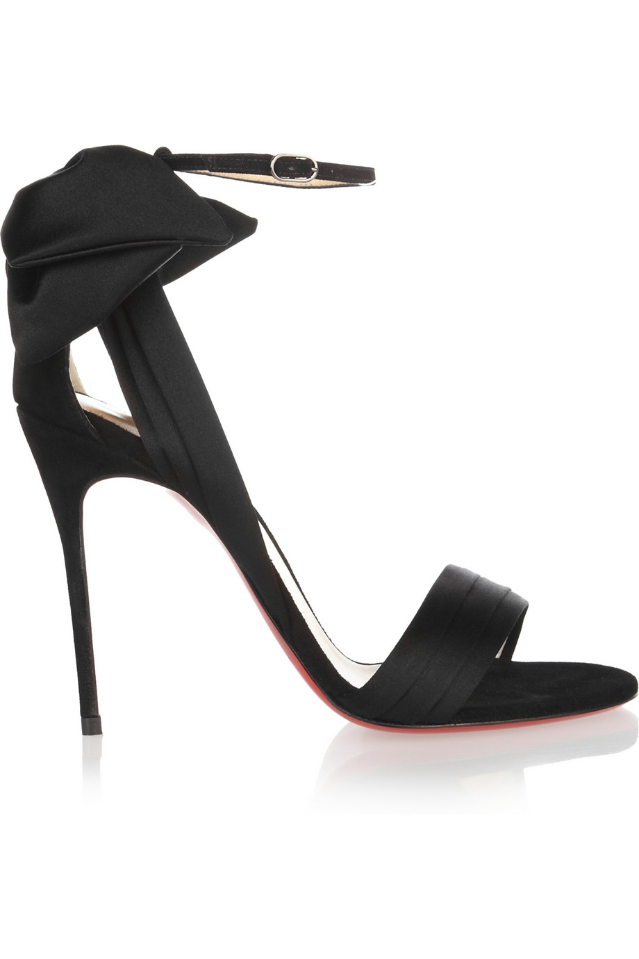 a7ec33c99aa6 Lyst - Christian Louboutin Vampanodo Satin and Suede Sandals in Black