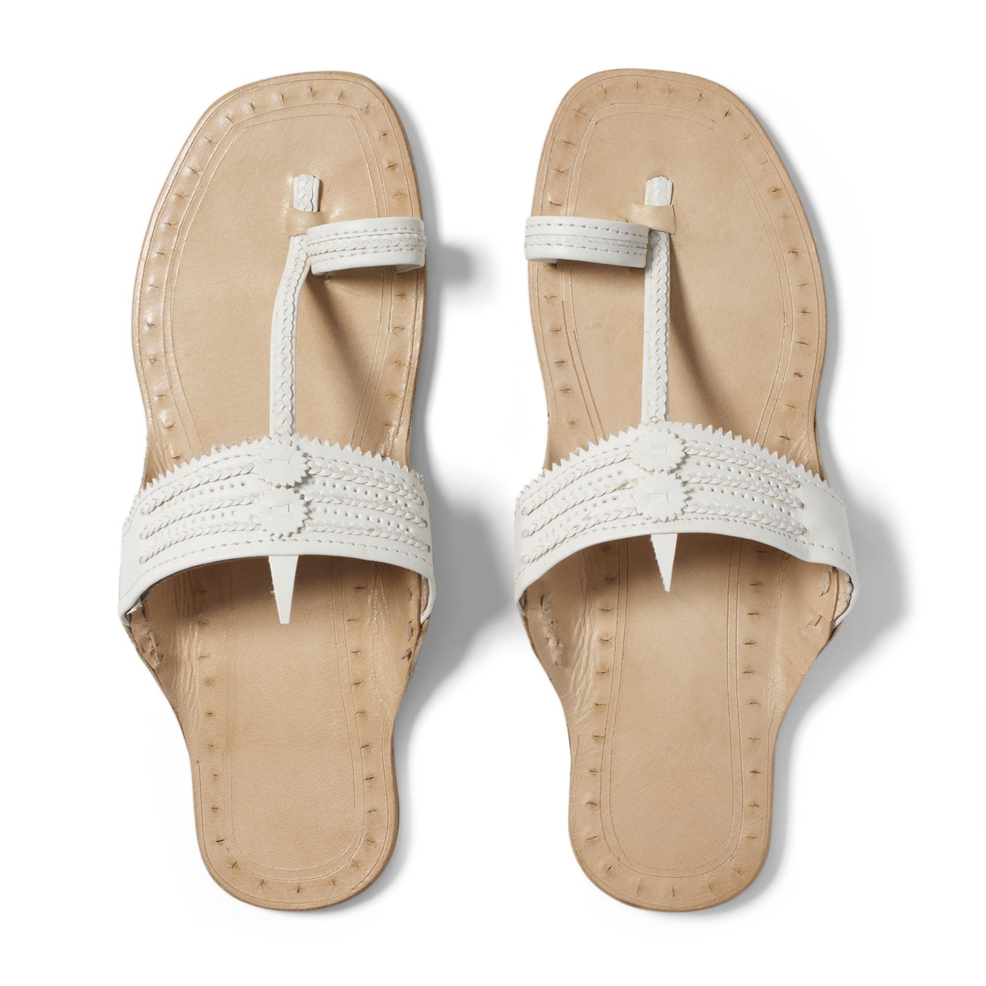 7d8249e30cabb0 Lyst - Club Monaco Indian Sandals in White