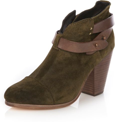 rag bone harrow suede boot in brown bone lyst
