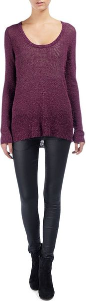 Rag & Bone Bridget Pullover in Purple (burgundy)