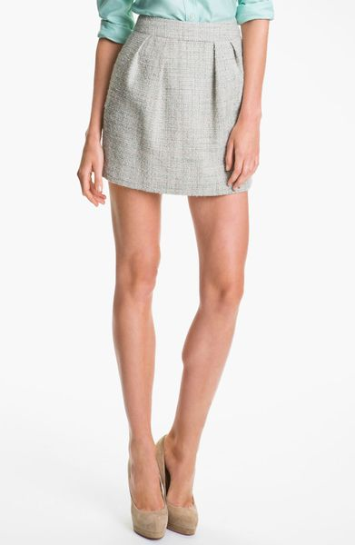 Theory Chablis Tweed Miniskirt in Gray (paisley multi)