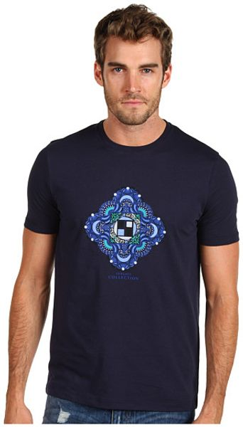 Versace Tshirt  in Blue for Men (b)