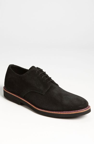 walk derby buck shoe in brown for black suede