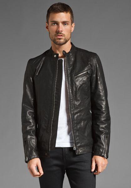 Diesel Lagnum Leather Jacket in Green for Men (SEA GREEN) | Lyst