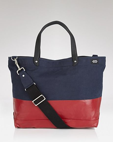 Jack Spade Dipped Coal Tote Bag In Red For Men Peacoat