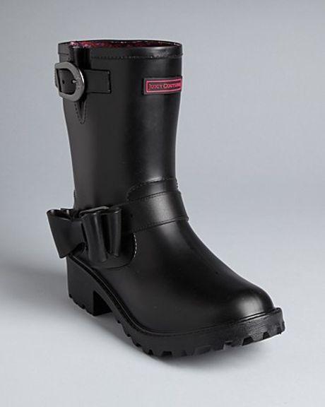 Juicy Couture Rain Boots Giselle In Black Black Matte Lyst