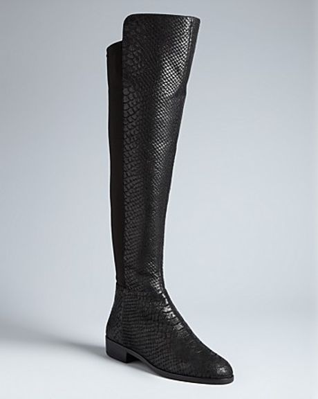 Michael Kors Michael Stretch Tall Boots Bromley in Black