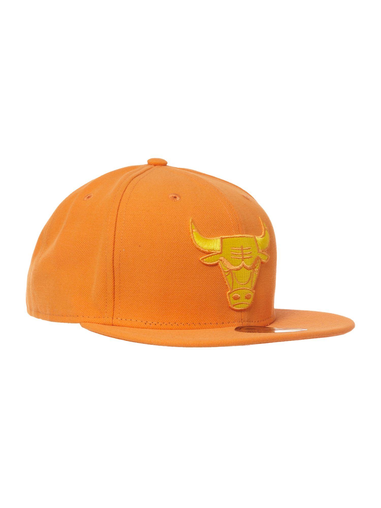 New Era Chicago Bulls 59 Fifty Baseball Cap In Orange For