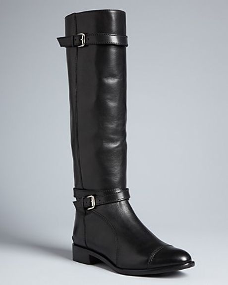 Pour La Victoire Flat Riding Boots Loryn in Black