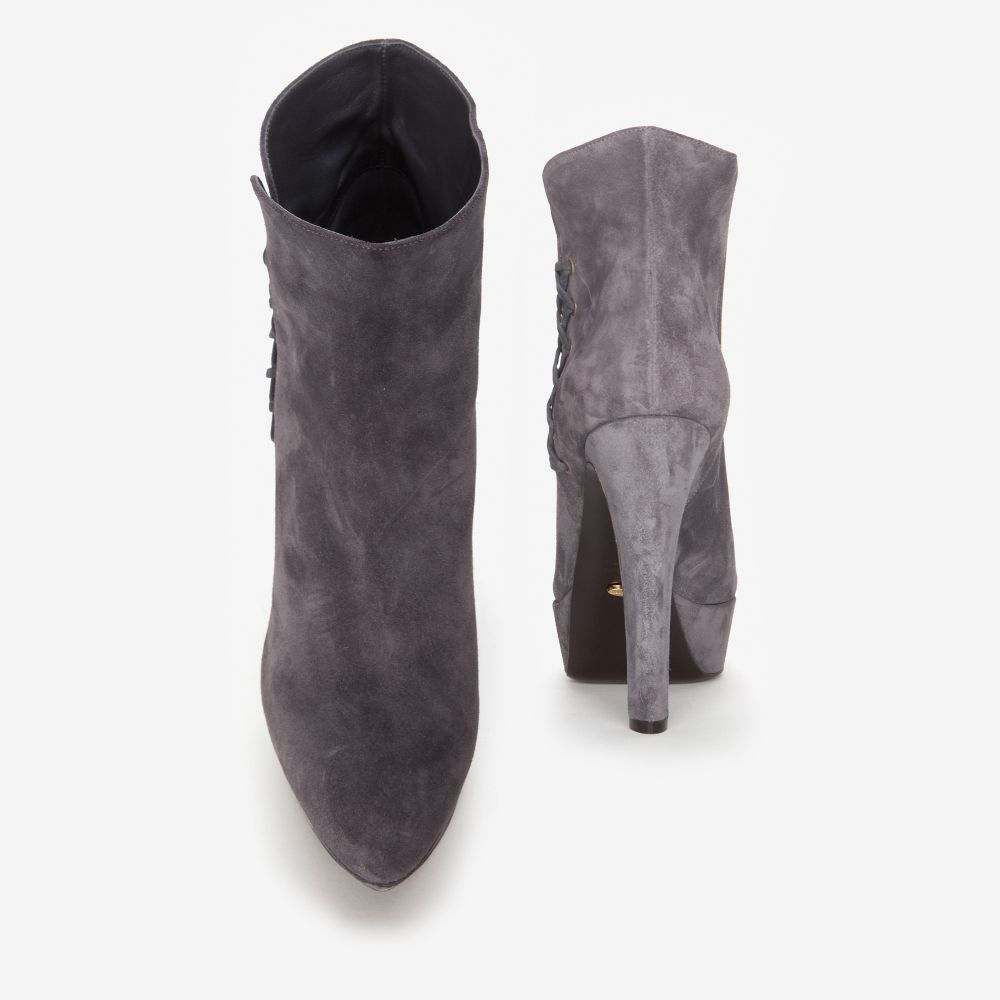Sergio Rossi Boots Bootie suede leather ihZuyxIGD