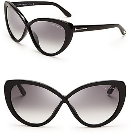 tom ford madison cat eye sunglasses in black blue grey lyst. Cars Review. Best American Auto & Cars Review