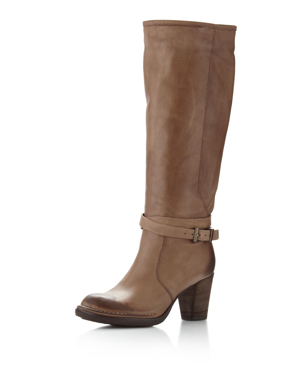 alberto fermani ankle knee boots in brown oak tmoro