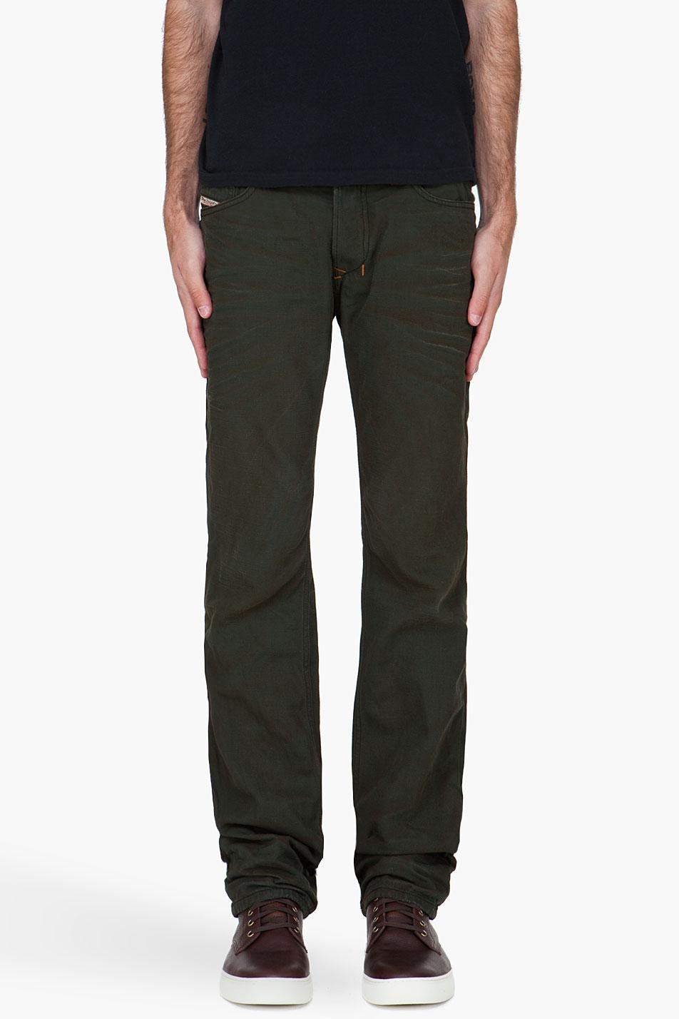Diesel Dark Green Safado Jeans in Blue for Men   Lyst