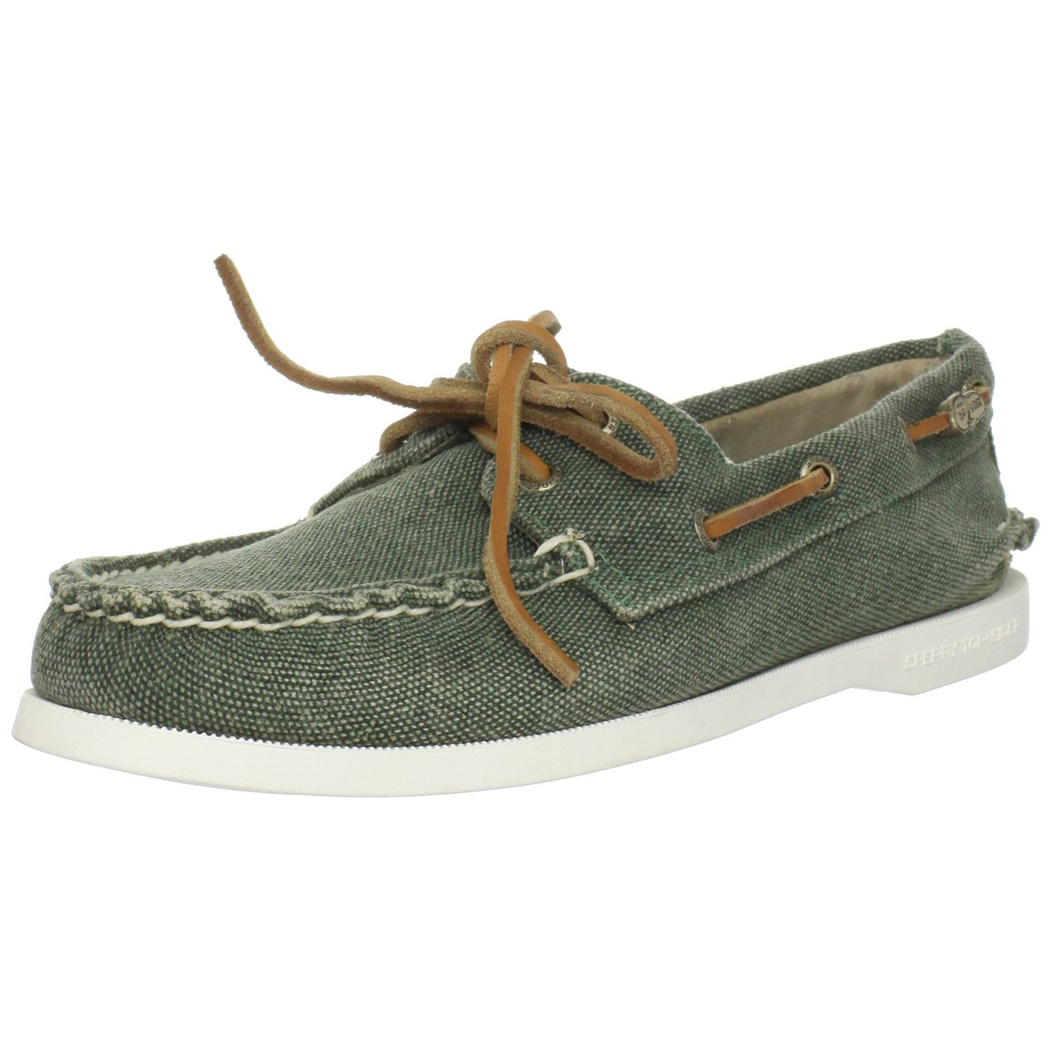 Sperry Top-sider Sperry Topsider Womens Ao Canvas Boat Shoe In Green (olive) | Lyst