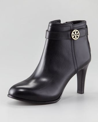 Tory Burch Bristol Leather Bootie - Lyst