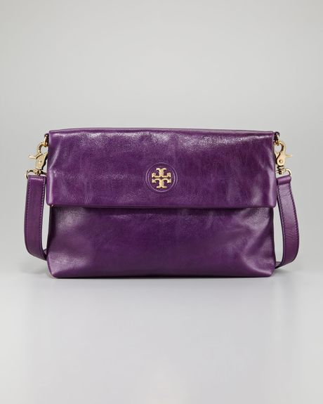 Tory Burch City Foldover Messenger Bag in Purple (purple dream) - Lyst