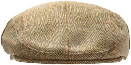 Barbour Tweed Flat Cap In Beige For Men Khaki Lyst