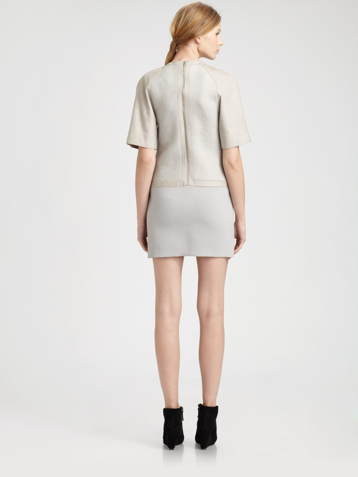 Helmut lang Form Suiting Dress in Gray | Lyst
