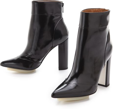 3.1 Phillip Lim Peggy Ankle Booties in Black