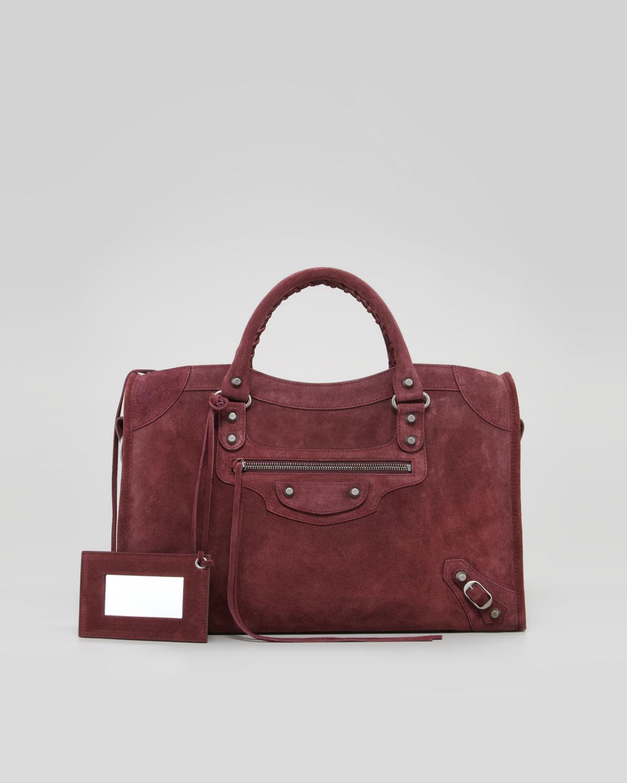 Lyst Balenciaga Baby Daim Suede Classic City Bag
