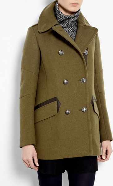 Belstaff Peat Chatham Wool Military Jacket in Green