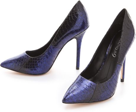 Boutique 9 Justine Pointy Toe Pumps in Blue