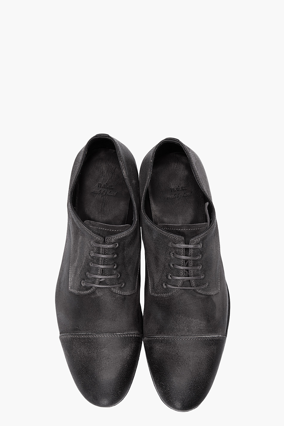 Lyst Ndc Charcoal Distressed Leather Derby Dress Shoes