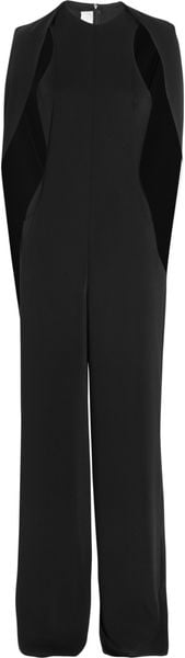 Esteban Cortazar Cape-Back Cady and Stretch Crepe Jumpsuit - Lyst