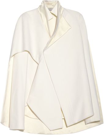 Esteban Cortazar Cape-Back Wool-Blend and Duchess Satin Jacket - Lyst