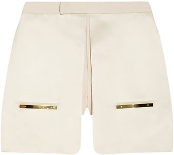 Esteban Cortazar Duchess Satin and Twill Shorts - Lyst