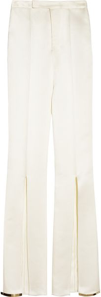 Esteban Cortazar Slit Detailed Satin Pants - Lyst
