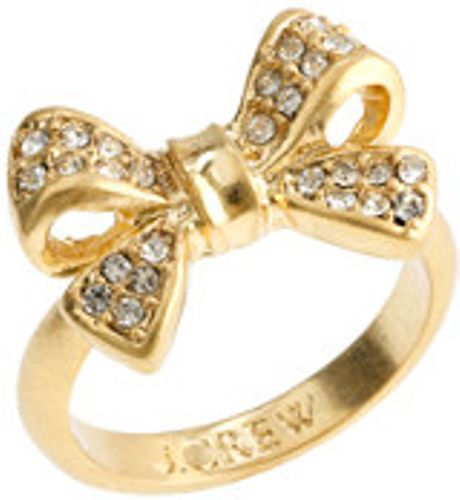 J.crew Bow Ring in Gold (antique gold)