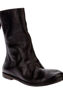 Marsell Distressed Mid Calf Boot - Lyst