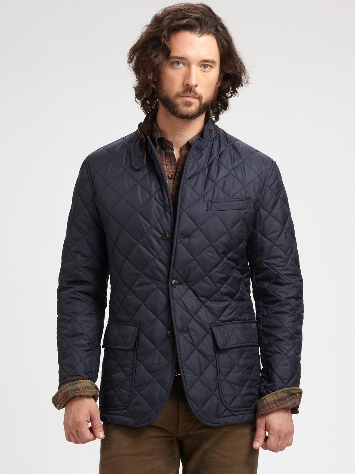 lyst polo ralph lauren quilted sport coat in blue for men. Black Bedroom Furniture Sets. Home Design Ideas