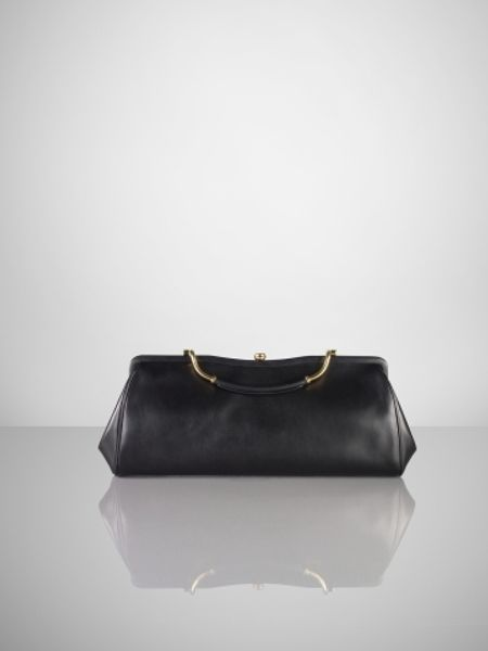 Ralph Lauren Large Calfskin Clutch in Black